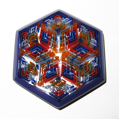 Daisuke Takeuchi Purple Hexagon Pendant (2014)