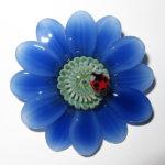 Maki Kawabe - Blue Flower Pendant
