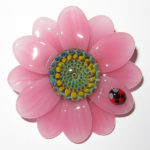 Maki Kawabe - Pink Flower Pendant