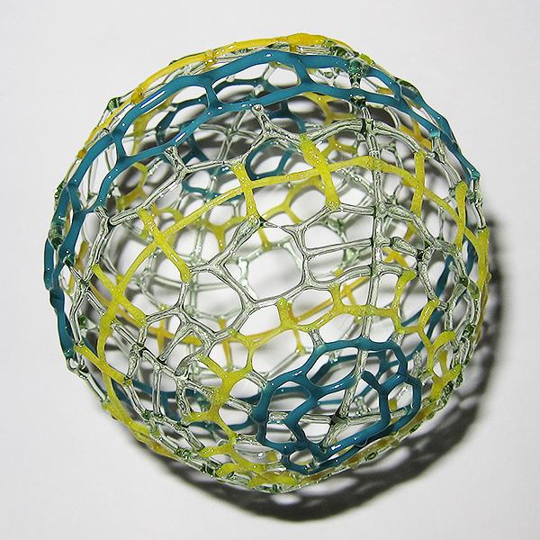 Nao Saito – Yellow Green Teal Sphere