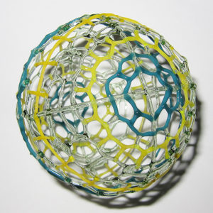 Nao Saito - Yellow Green Teal Sphere