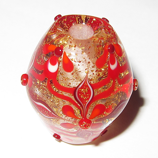 Noriko Takada – Red Sparkle Bead