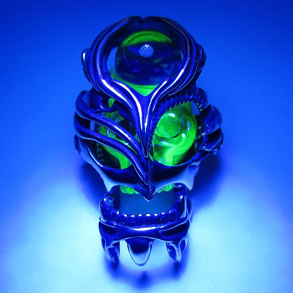Takehisa okumura glass pendants for sale jon green contemporary takehisa okumura 209 uranium silver cage skull aloadofball Gallery