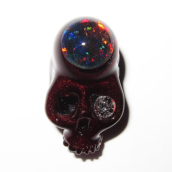 Takehisa Okumura – Kandy Apple Red Silver Cage Skull (2014)
