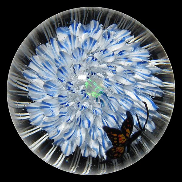 Akihiro Okama - Blue Flower Butterfly