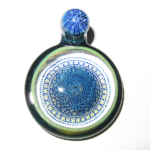 Junichi Kojima / Rose Roads - Medium Blue Pendant