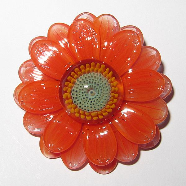 Maki Kawabe - Orange Flower Pendant (2014)
