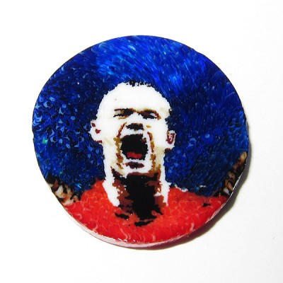 Wayne Rooney murrine by Chris Juedemann