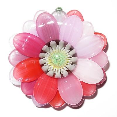 Maki Kawabe - Rainbow Flower Pendant