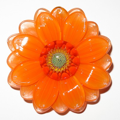 Maki Kawabe - Orange Flower Pendant