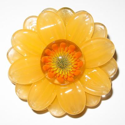 Maki Kawabe - Yellow Flower Pendant