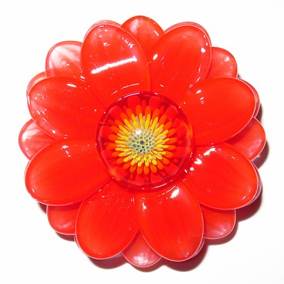 Maki Kawabe - Red Flower Pendant