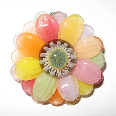 Maki Kawabe glass - Rainbow Flower pendant (2016)
