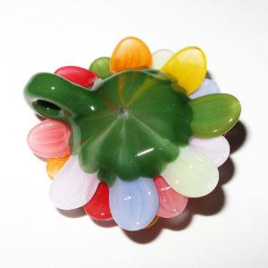 Maki Kawabe glass - Rainbow Flower pendant (2016)