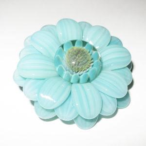 Maki Kawabe glass - Flower pendant (2016)