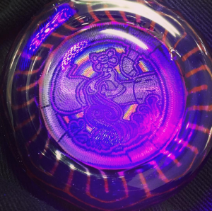 Pakoh x Rose Roads glass - Hollow UV Pendant (2016)