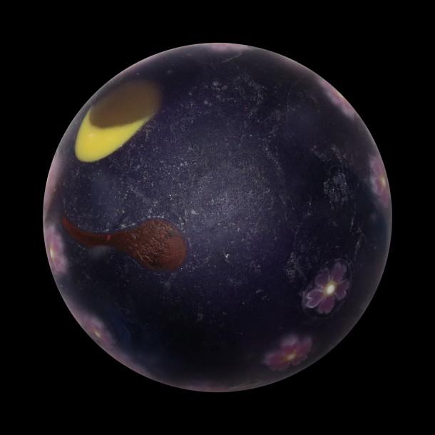 Akihiro Okama glass – Cherry Blossoms / Sakura marble (2016)