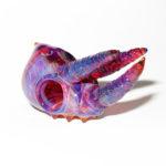 Akihisa Izumi / Akio glass - Jackson's chameleon skull pendant (2015)